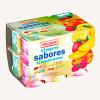 Diseño agrupador de 12 yogures diferentes sabores a frutas